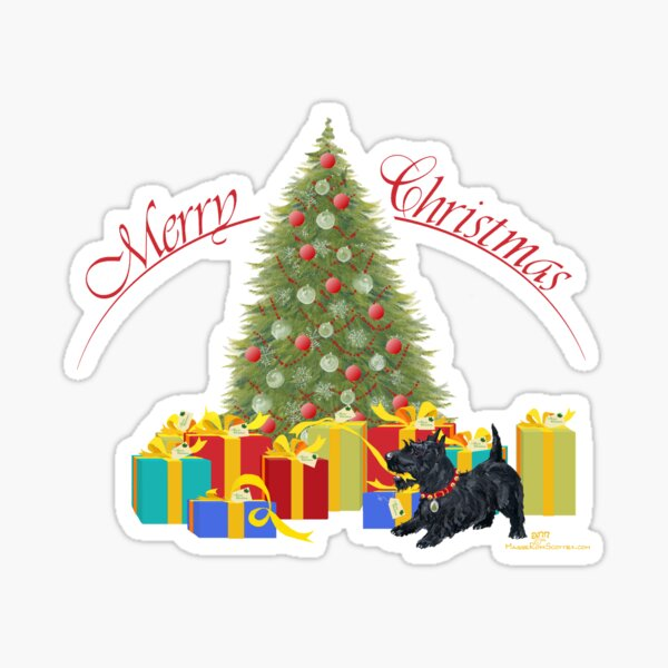 Scottish Terrier Christmas Gifts Sticker
