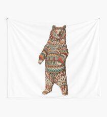 Kunstvoller Grizzlybär (Farbversion) Wandbehang