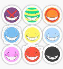 "Koro Sensei's faces ""Ansatsu Kyoushitsu""""Assassination Classroom"" Sticker"