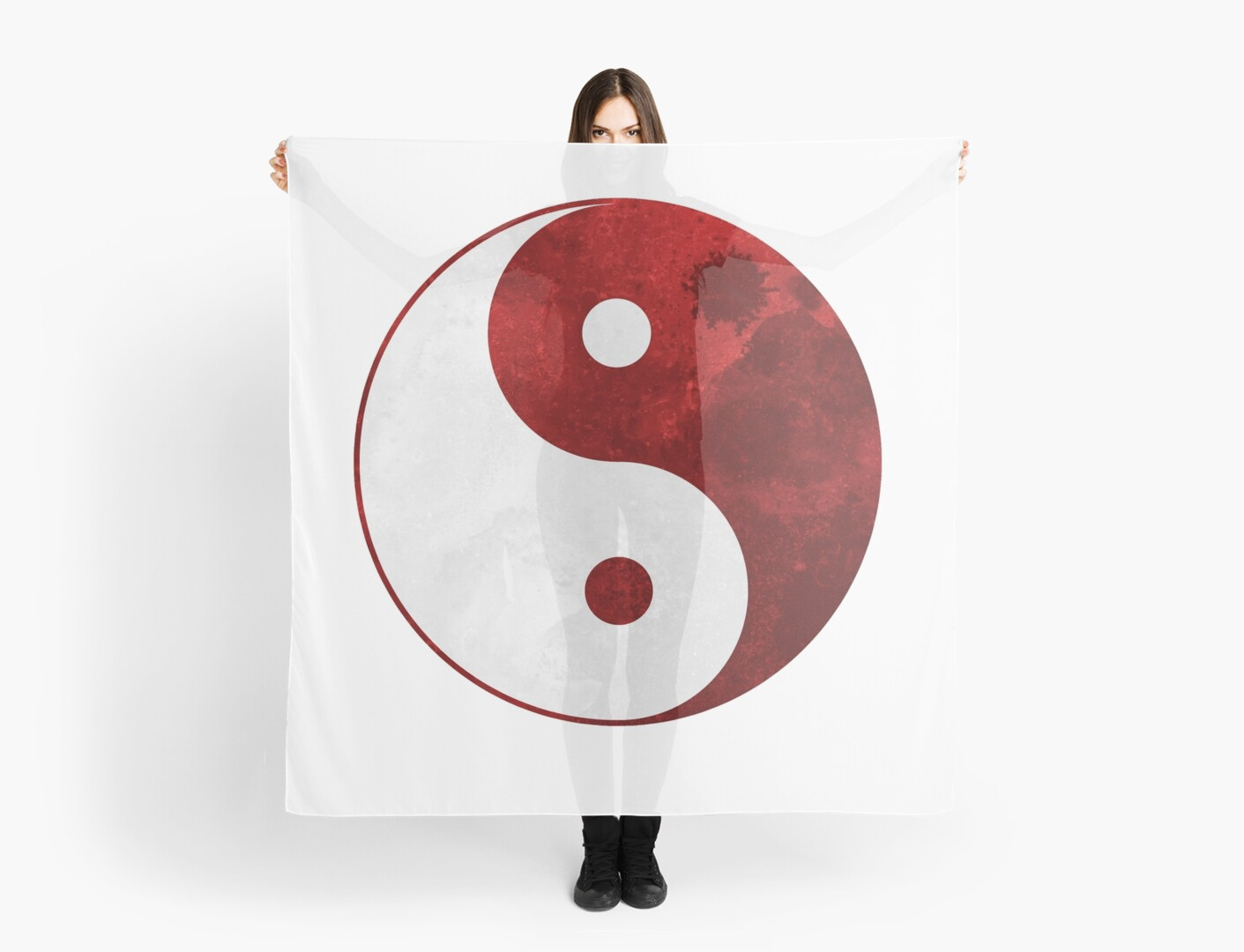 Ying Yang Bad : Amazon ambesonne ying yang outdoor tablecloth polka dots yin
