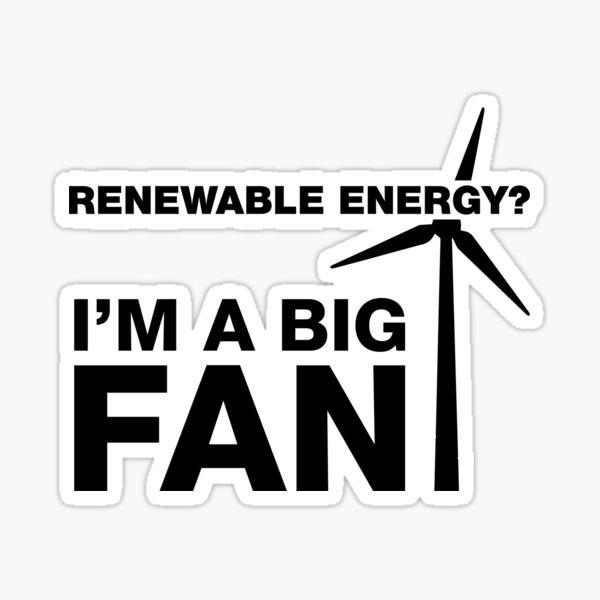 I'm A Big Fan, Electrician Humor Sticker