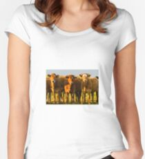 Down on the farm Women's Fitted Scoop T-Shirt