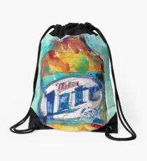 Miller Lite Beer Original Beer Art Watercolor Drawstring Bag