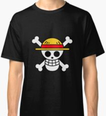 One Piece Straw Hat Flag Classic T-Shirt