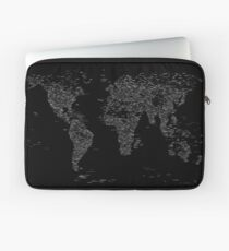 World Map of Cities Laptop Sleeve