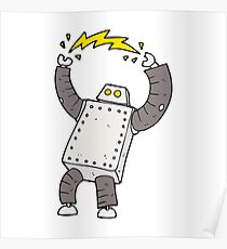 cartoon robot Poster