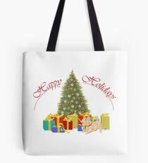 Wheaten Scottish Terrier Holidays Tote Bag