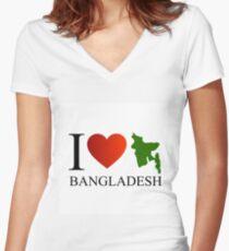 I love Bangladesh Women's Fitted V-Neck T-Shirt
