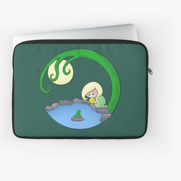 Girl At The Pond Laptop Sleeve