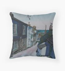 """""""From Hill to Harbour"""" - Port Isaac, Cornwall Throw Pillow"""