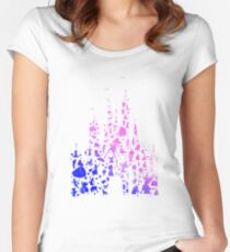 Character Castle Inspired Silhouette Women's Fitted Scoop T-Shirt