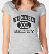 Wisconsin Skinny XXL Women's Fitted Scoop T-Shirt