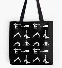 Yoga poses silhouette Tote Bag