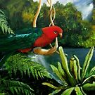 King Parrot         Acrylic painting  by sandysartstudio