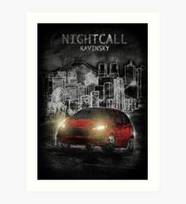 Kavinsky: Nightcall Art Print