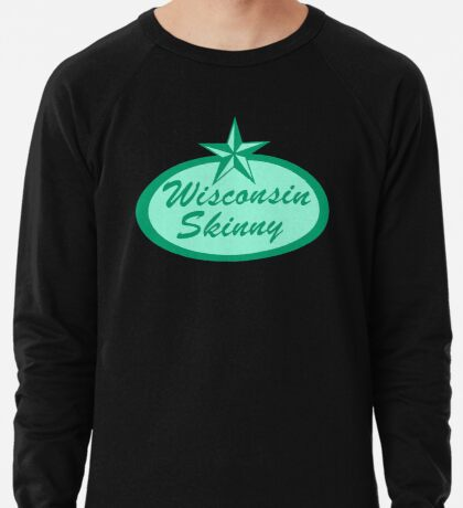 Wisconsin Skinny Logo Green Lightweight Sweatshirt