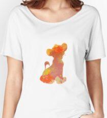 Löwejunges spornte Schattenbild an Loose Fit T-Shirt