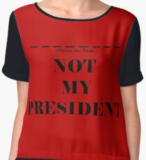 Choose the President Chiffon Top