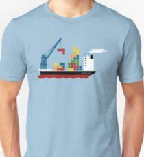 Cargo Tetris Ship Unisex T-Shirt