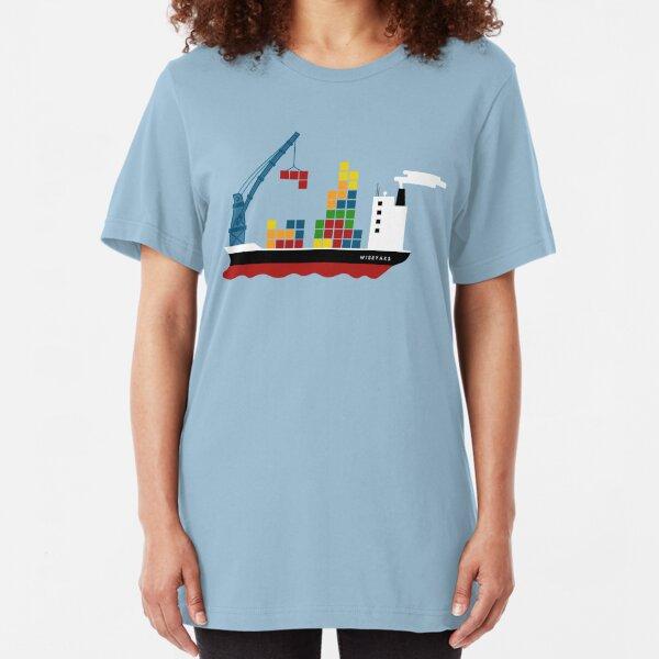 Cargo Tetris Ship Slim Fit T-Shirt
