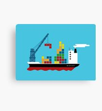 Cargo Tetris Ship Canvas Print