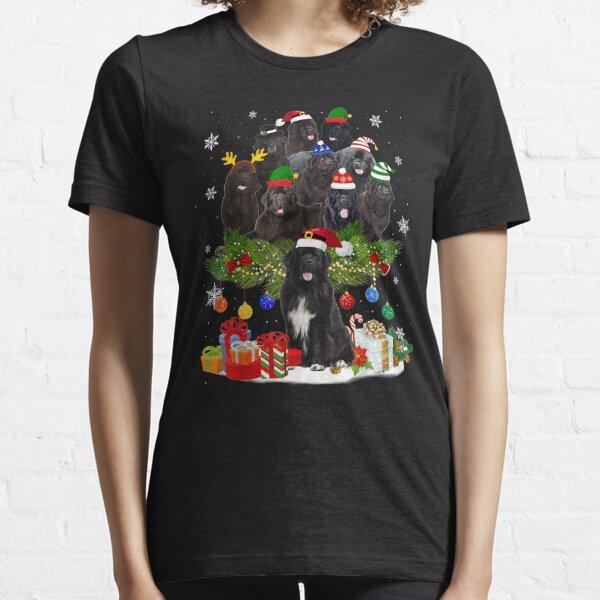 Newfoundland Christmas Tree Lights Funny Dog Xmas T-Shirt Essential T-Shirt