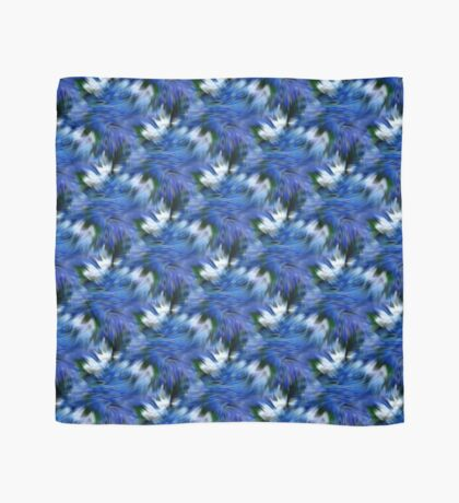 Abstract Blue And White Strokes Scarf