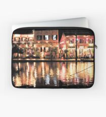 Hoi An, Vietnam, river and restaurants in soft tones Laptop Sleeve