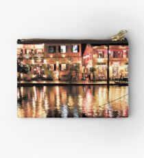 Hoi An, Vietnam, river and restaurants in soft tones Studio Pouch