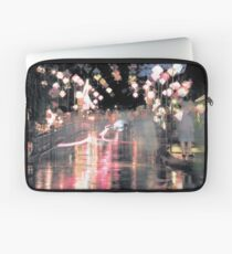 Hoi An lanterns and reflections on bridge Laptop Sleeve