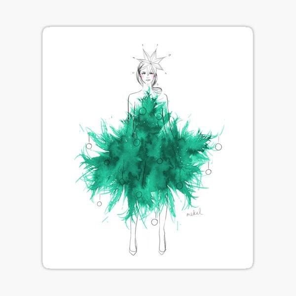 Christmas Tree Dress Sticker