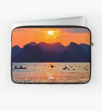 Halong Bay kayaks and sunset Laptop Sleeve