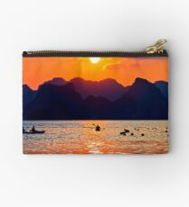Halong Bay kayaks and sunset Studio Pouch