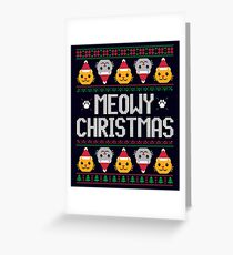 Ugly Christmas Sweater - Cat Greeting Card