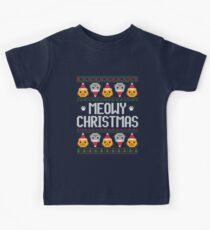 Ugly Christmas Sweater - Cat Kids Tee