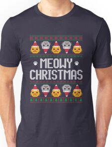 Ugly Christmas Sweater - Cat Unisex T-Shirt