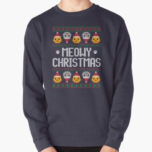 Ugly Christmas Sweater - Cat Pullover Sweatshirt