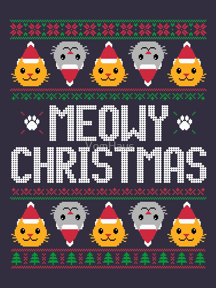 Ugly Christmas Sweater - Cat by VomHaus