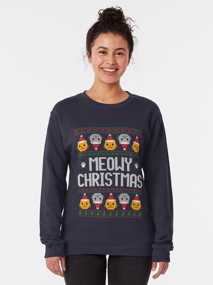 Alternate view of Ugly Christmas Sweater - Cat Pullover Sweatshirt