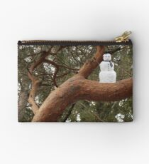 Snowman Climbed Tree Studio Pouch