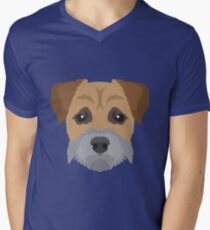 Border Terrier  Men's V-Neck T-Shirt