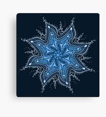 Ice Bay Mandala Canvas Print