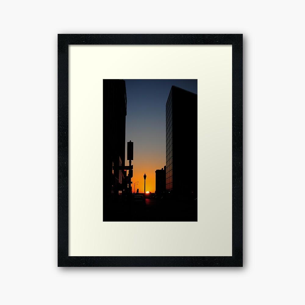 Sundown Downtown Framed Art Print