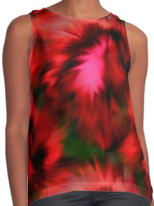 Vibrant Red Pink And Green Abstract Colors Contrast Tank