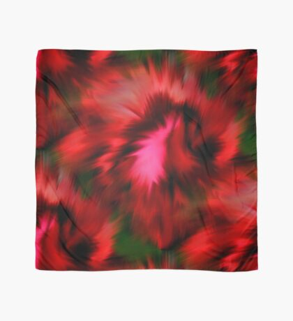 Vibrant Red Pink And Green Abstract Colors Scarf