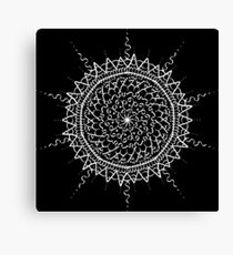 Black Mandala Canvas Print