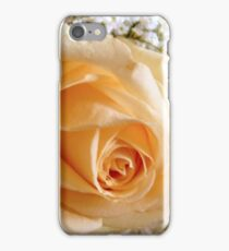 Peach rose and babybreath iPhone Case/Skin