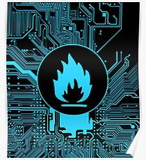 Cybergoth - Flammable (blue) Poster
