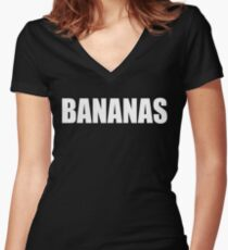 BANANAS - Mike And Dave Need Wedding Dates Women's Fitted V-Neck T-Shirt