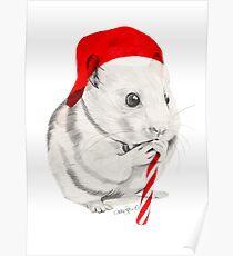 CHRISTMAS HAMSTER Poster